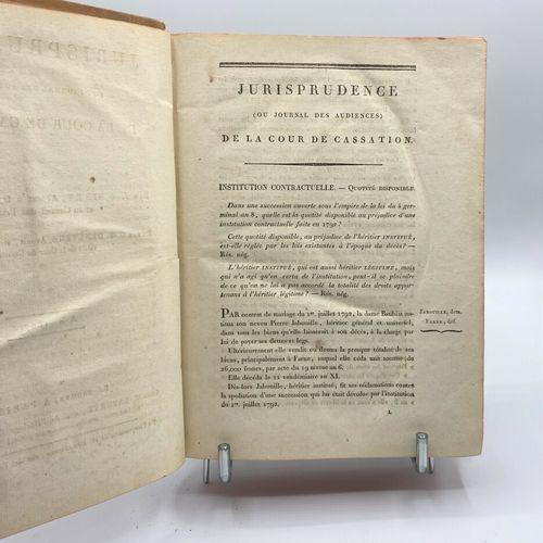 Sirey (Jean Baptiste) (1762 1845),  Jurisprudence de la Cour de Cassation, or Pr…