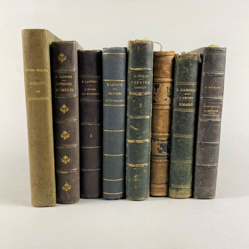 Lot of eight books :     Ernest, Legouve,  Fathers and children in the 19th cent…
