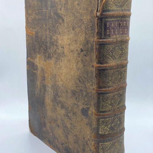 Religion,  The Holy Bible, containing the old and new testaments.  In Latin acco…