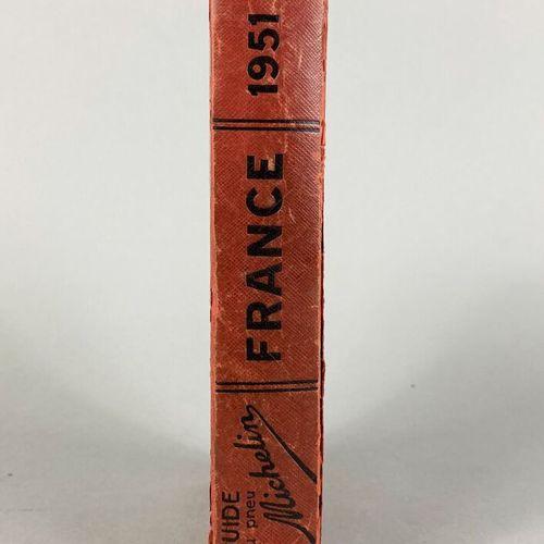 Michelin,  Guide Rouge France 1951.  Belle patine.  En l'état.