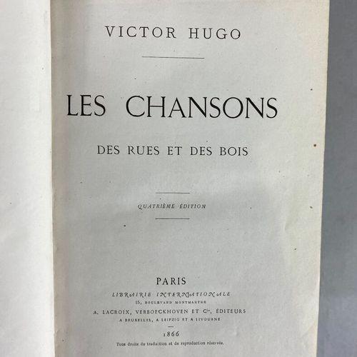 Victor Hugo (1802 1885),  Lot composé de quatre ouvrages dont :  Les Chansons, L…