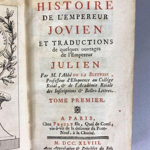 Abbé Jean Philippe Renée de la BLETERIE (1696 1772),  Vie de l'Empreur Julien.  …