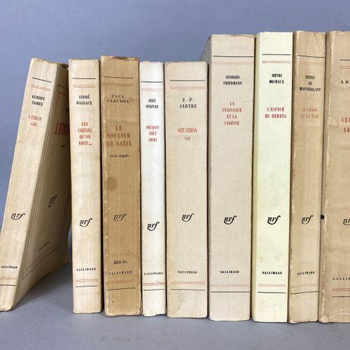 NRF Gallimard,  Lot contenant vingt sept ouvrages brochés aux éditions NRF,  don…