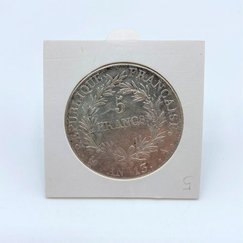 Francia Primo Impero (1804 1814),  moneta d'argento da 5 franchi, tipo ecu  Drit…