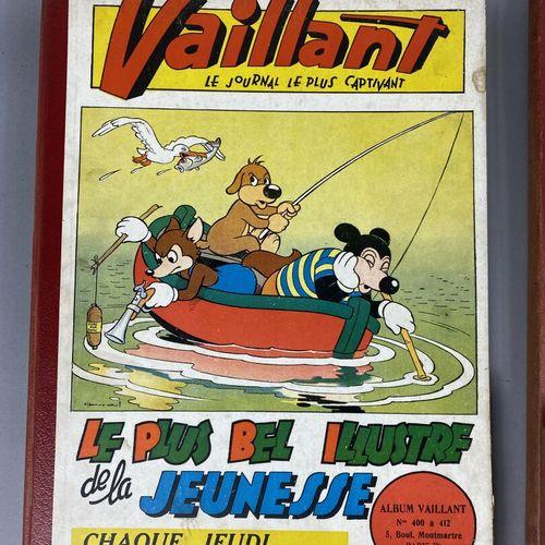 Bande dessinée,  Vaillant,  Ensemble de quatre albums 1952 53.  In folio en reli…