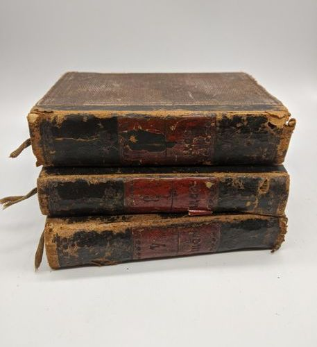 3 books of Moses, late 19th, 2,3 and 4