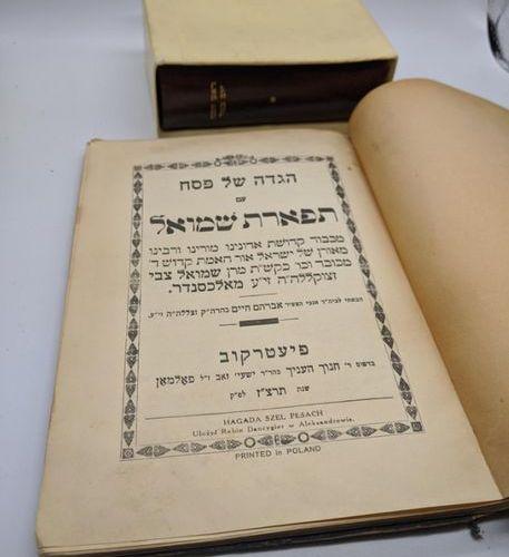 Passover Hagadah, Polish, together with a Passover prayer book