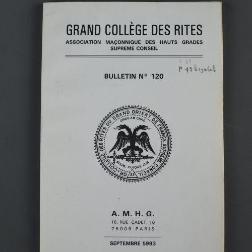 Bulletins du Grand Collège des Rites Le Grand Collège des Rites Écossais – Sup…