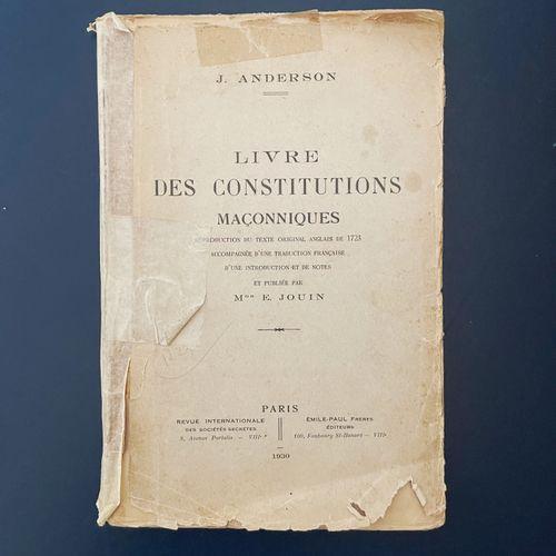 Livre des Constitutions maçonniques Monseigneur Ernest Jouin (1844 1932) fut un …
