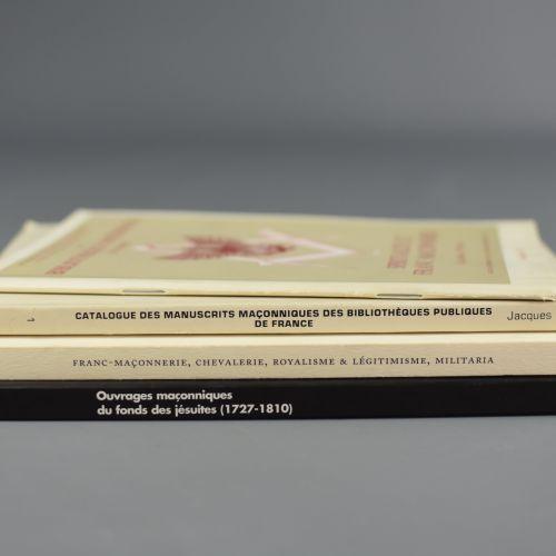 Catalogues de bibliothèques et de ventes De nombreux ouvrages maçonniques se ca…