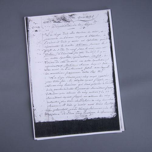 Copies de documents maçonniques Une part de la vie maçonnique en particulier, i…