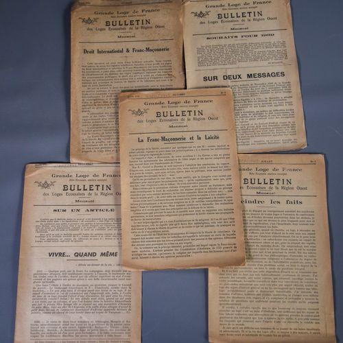 Documents d'archives relatifs à la Grande Loge de France et au Rite Ecossais Anc…