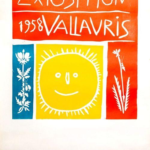 Pablo PICASSO (1881 1973), d'après.  Exposition Vallauris 1958.  Affiche d'expos…