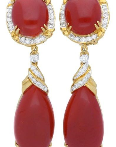 "Coral diamond set  Noble ox blood coral set, also ""Moro"" of the very rare  Coral…"