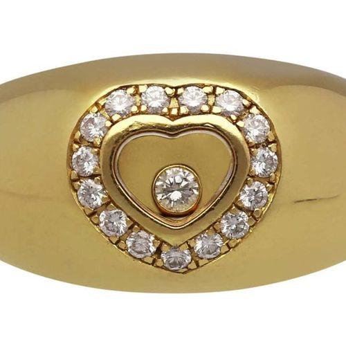 CHOPARD Diamond Ring  Model Happy Diamonds in yellow gold 18K.  Fine Chopard rin…
