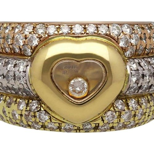 CHOPARD Diamond Ring  Model Happy Diamonds in rose gold/white gold/yellow gold 1…