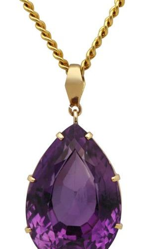 Amethyst jewellery set  Colourful set consisting of pendant with chain, bracelet…
