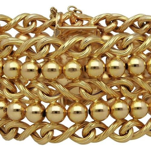 Gold bracelet  Fantastic Bucherer bracelet in yellow gold 18K.  Extraordinary wo…