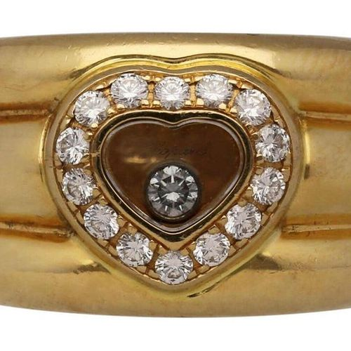 CHOPARD Ring Happy Diamonds  Classic from the Chopard collection in 18K yellow g…