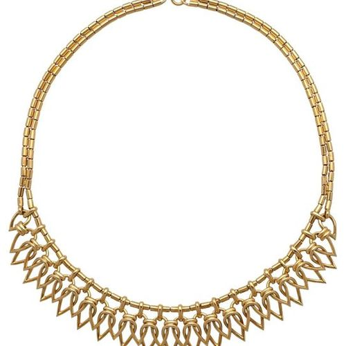 Gold necklace  Fantastic piece of jewellery in yellow gold 18K.  Very nice work,…