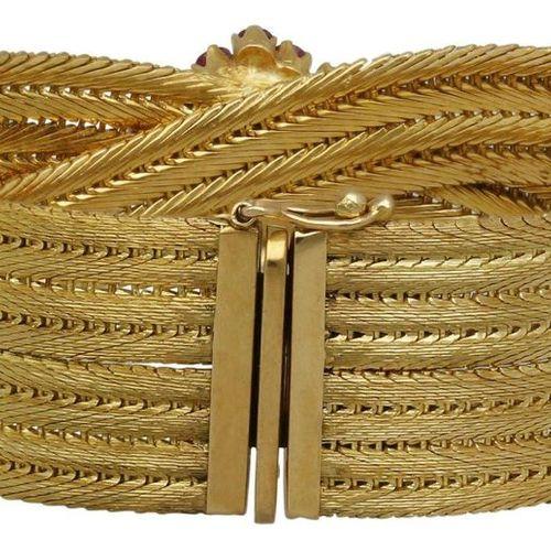 Ruby gold bracelet  Attractive bracelet in yellow gold 18K.  Delicate bracelet b…