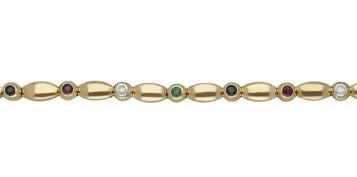 Gemstone bracelet  Very nice appearance in yellow gold 18K.  Decorative bracelet…