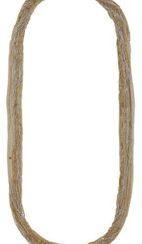 Bicolor Gold Necklace  Fine work in yellow gold/white gold 18K.  Beautiful multi…