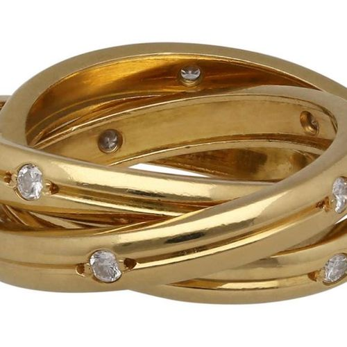 CARTIER diamond ring  Model Trinity in yellow gold 18K.  Popular model decorated…