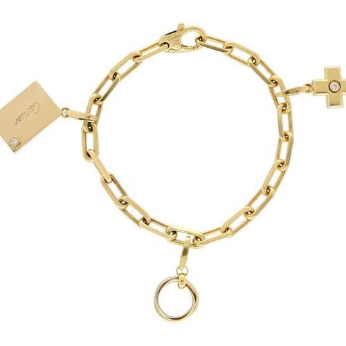"CARTIER bracelet ""Santos de Cartier""  Imposing bracelet in yellow gold 18K.  Dec…"