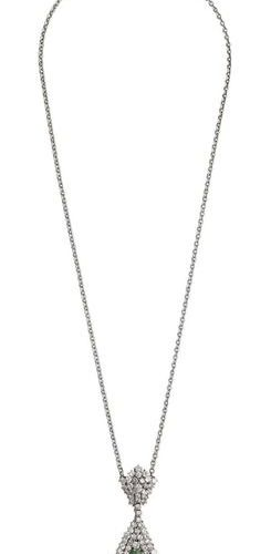 Emerald Diamond Jewellery Set  Fantastic jewellery set, consisting of necklace a…