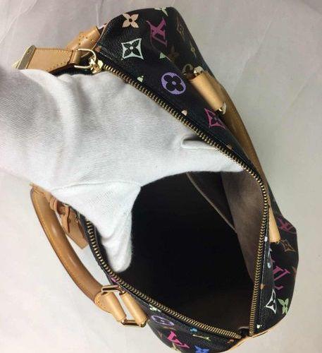 LOUIS VUITTON handbag Speedy  Multicolor Black in vinyl with monogram.  Width 30…