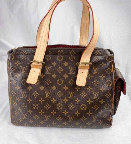 LOUIS VUITTON Handbag  Multipli Cite M51162, canvas brown, monogram.  Width 36 c…