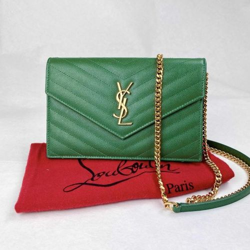 YVES SAINT LAURENT shoulder bag/clutch  Model Envelope.  Matelassé leather in a …