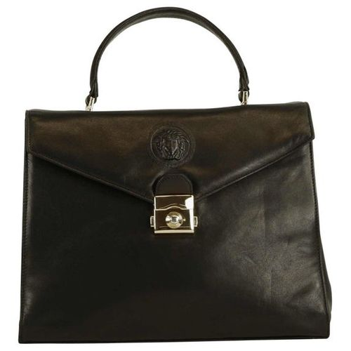 VERSACE handbag  Beautifully preserved black leather bag in the style of a Kelly…