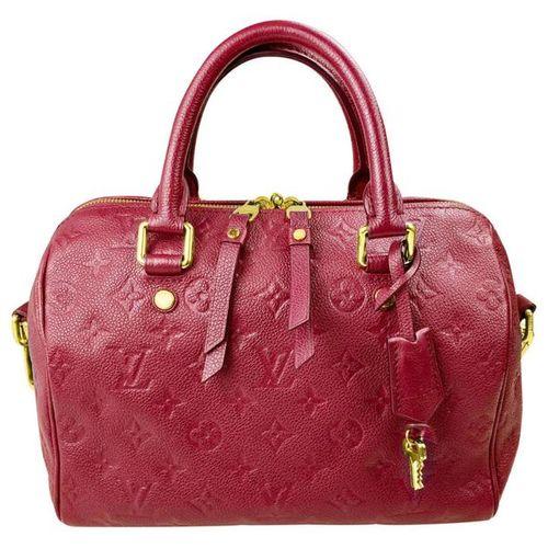 LOUIS VUITTON Handbag  Model Speedy 25 Bandoulière Empreinte NM, leather fuchsia…