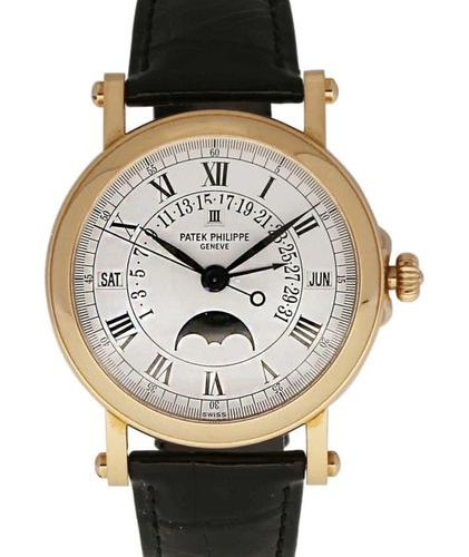 "PATEK PHILIP  Gentelman's wristwatch ""Perpetual Calendar""  Model Perpetual Calen…"