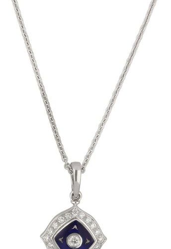 FABERGÉ pendant with chain  Exquisite design in white gold 18K.  Limited edition…
