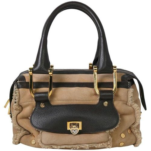 CHOPARD Mouton return  Handbag made of light brown lambskin with dark brown appl…