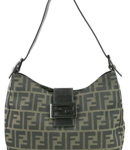 FENDI Handbag  Handbag made of brown canvas with typical F pattern and  Intermed…