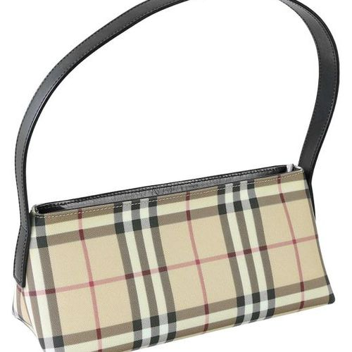 BURBERRY Handbag  Small shoulder bag made of beige PVC in the typical check patt…