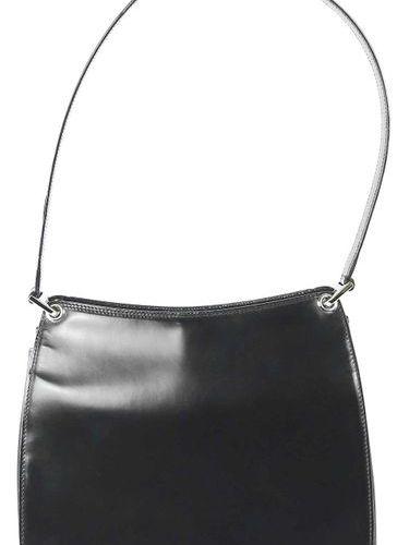 BALLY Handbag  Black leather handbag, lining with Bally logo and inner pocket  w…