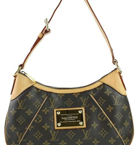 LOUIS VUITTON Thames  Handbag made of brown monogram canvas with 2 pockets in  I…