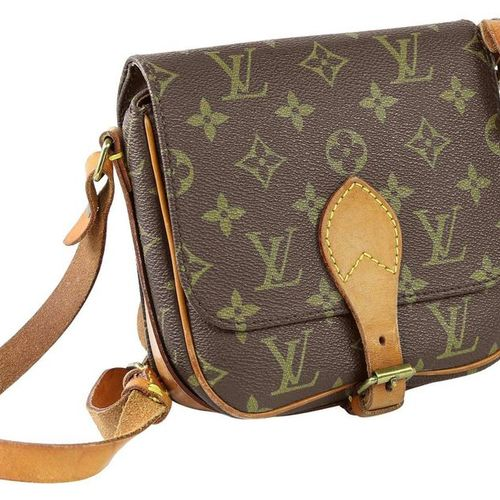 LOUIS VUITTON Cartouchiere  Small shoulder bag made of brown monogram canvas.  W…