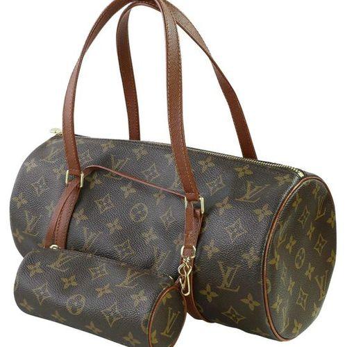 LOUIS VUITTON Papillon  Handbag made of brown monogram canvas incl. Mini papillo…