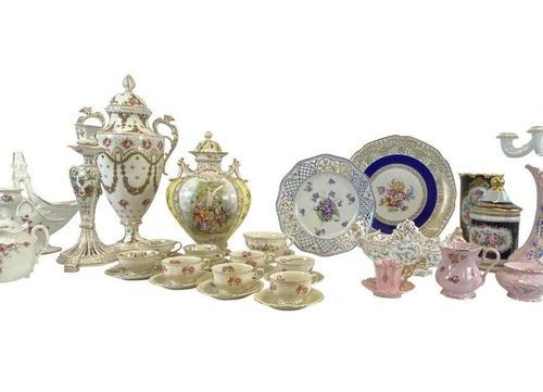 Collection / Composition with porcelain from different manufactories  10 piece c…
