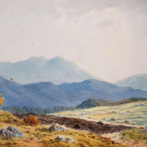 """DOUGLAS ALEXANDER, RHA (IRISH 1871 – 1945), """"AMONG THE CROHYBOYLE MOUNTAINS"""", wa…"""