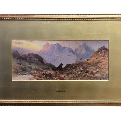 "EDWIN A. PENLEY (BRITISH, 1826 1893), ""IN THE LAKE DISTRICT, 1961"", watercolour,…"