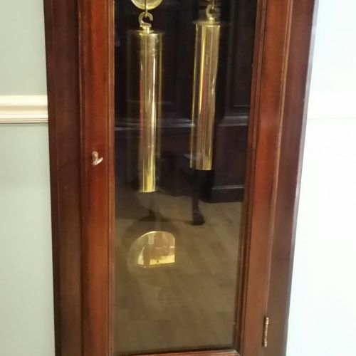 A VERY FINE 19TH CENTURY MAHOGANY CASED REGULATOR LONGCASE CLOCK, with brass and…