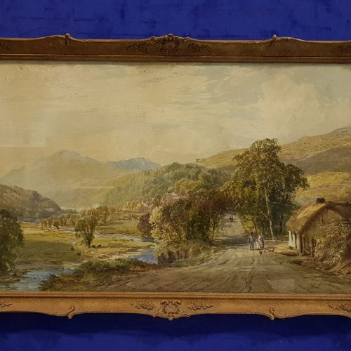 "JOHN FAULKNER RHA (1835 1894), ""A PASTORAL COUNTRYSIDE SCENE"", watercolour, sign…"