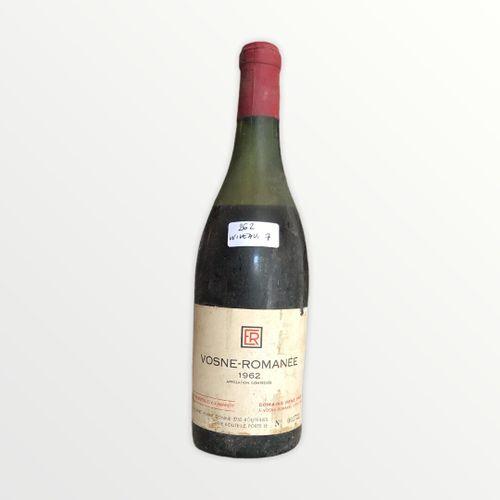 René Engel酒庄,Vosne Romanée 1962年,水平7厘米,标签有污点和破损